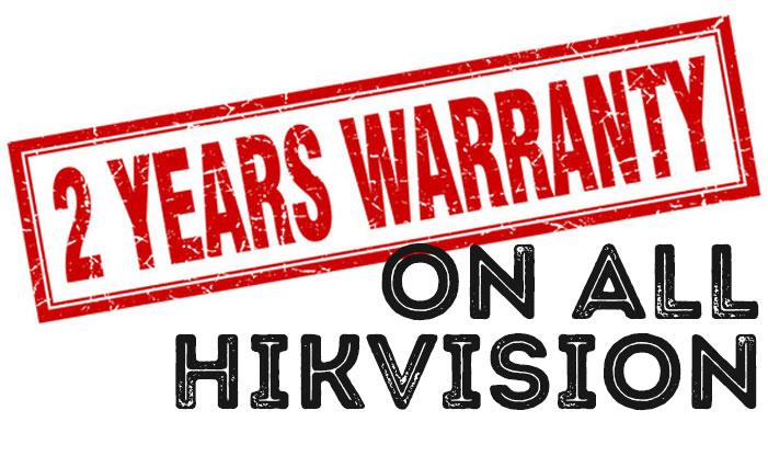 2 Years Warranty On All Blackburn Hikvision Installations